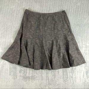 Dress Barn A-Line Skirt Sz 16W Gray Below the Knee Length Seamed Side Zipper